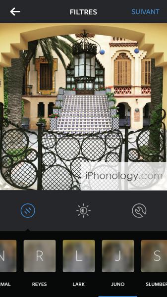 The New Juno Instagram filter in the iOS Instagram app