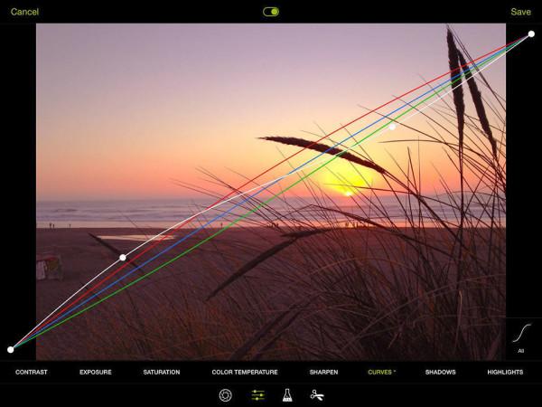Curve tool ProCamera 8