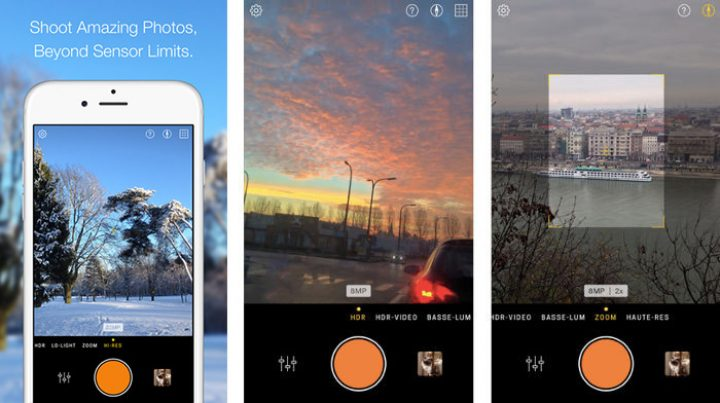 Hydra for iOS : boost the iPhone's camera (HDR, high-resolution, low-light)