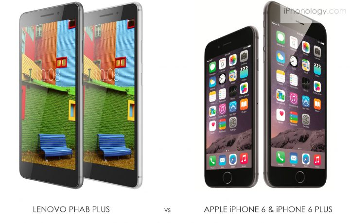 Lenovo PHAB Plus vs iPhone 6 Plus : this gotta be a joke !