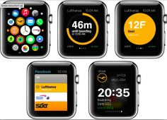 Lufthansa on Apple Watch: your flight data and boarding pass at your wrist