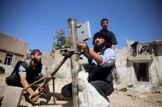 An iPad spotted in Syria to set mortar angle