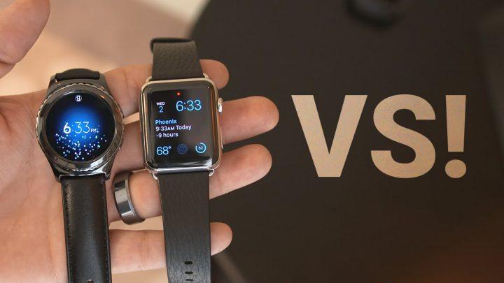Samsung Galaxy Gear S2 vs Apple Watch comparison video